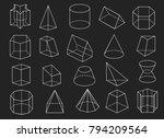 line geometric shapes. 3d...   Shutterstock .eps vector #794209564