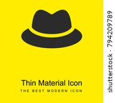 black homburg hat bright yellow ...
