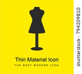 store mannequin bright yellow...