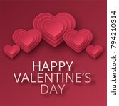 happy valentines day greeting... | Shutterstock .eps vector #794210314