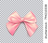 pink bow for packing gifts.... | Shutterstock .eps vector #794210338