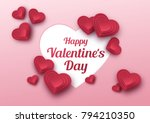 happy valentines day greeting... | Shutterstock .eps vector #794210350