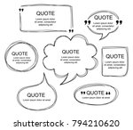 vector collection of scribbled... | Shutterstock .eps vector #794210620