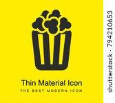 box of popcorn bright yellow...