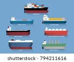 set of transportation cargo... | Shutterstock .eps vector #794211616