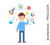 vector illustration of a... | Shutterstock .eps vector #794211634