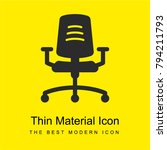 office chair bright yellow...