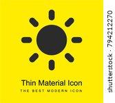 sun bright yellow material...