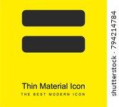 equals symbol bright yellow...