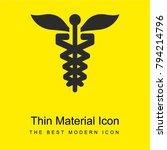 caduceus bright yellow material ...