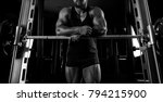 the weightlifter is near the... | Shutterstock . vector #794215900