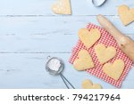 sweet baking for valentines day.... | Shutterstock . vector #794217964