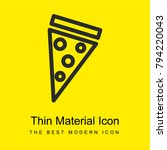 pizza slice bright yellow...