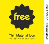 free sticker bright yellow...