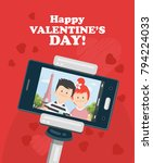 happy valentine day vector... | Shutterstock .eps vector #794224033