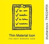 clipboard sketch bright yellow...