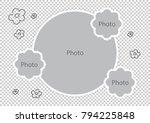 baby photo frames amazing... | Shutterstock .eps vector #794225848