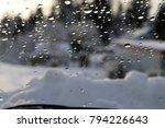 car windshield in winter   Shutterstock . vector #794226643