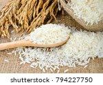 white rice  thai jasmine rice ... | Shutterstock . vector #794227750