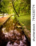 english park in tata  hungary | Shutterstock . vector #794230774