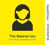 woman avatar bright yellow...