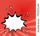 white empty comic bubble on red ...   Shutterstock .eps vector #794231164