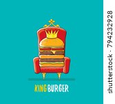 vector cartoon royal king... | Shutterstock .eps vector #794232928