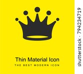 crown bright yellow material...