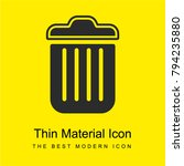 trash bright yellow material...