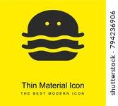 burger bright yellow material...
