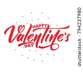 happy valentines day. text... | Shutterstock . vector #794237980