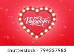 valentines day. banner for... | Shutterstock . vector #794237983