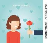 valentine's day gift  girl and...   Shutterstock .eps vector #794238190