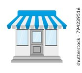 store or shop icon in flat... | Shutterstock .eps vector #794239516