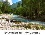 bistrica river in national park ... | Shutterstock . vector #794239858