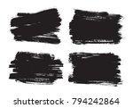 vector grunge banners.grunge... | Shutterstock .eps vector #794242864