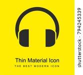 headphones bright yellow...