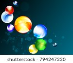 multicolored geometric vector... | Shutterstock .eps vector #794247220