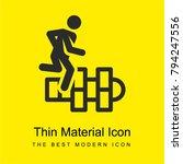 hopscotch bright yellow... | Shutterstock .eps vector #794247556