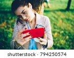 beautiful young woman in... | Shutterstock . vector #794250574