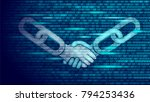 blockchain technology agreement ... | Shutterstock .eps vector #794253436