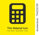 calculator bright yellow...
