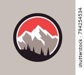 mountains vector icon. | Shutterstock .eps vector #794254534