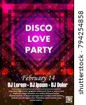 disco night party vector poster ...   Shutterstock .eps vector #794254858