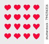 vector hearts icons set. | Shutterstock .eps vector #794256316