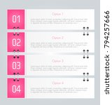 infographic template with step... | Shutterstock .eps vector #794257666