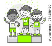 vector sports set running... | Shutterstock .eps vector #794258410
