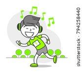 vector sports set running... | Shutterstock .eps vector #794258440