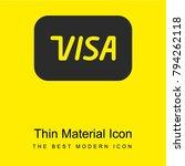 visa bright yellow material...