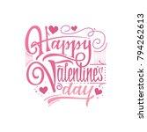happy valentine's day. hand... | Shutterstock .eps vector #794262613